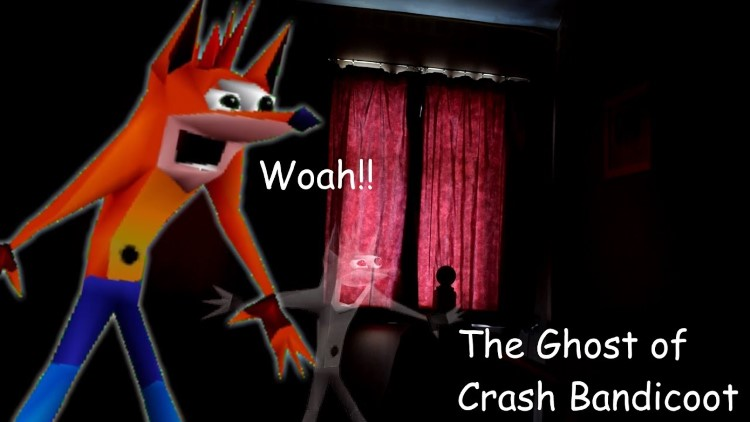 The ghost of Crash Bandicoot meme