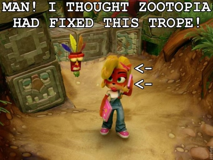 Zootopia Tawna Bandicoot crossover meme