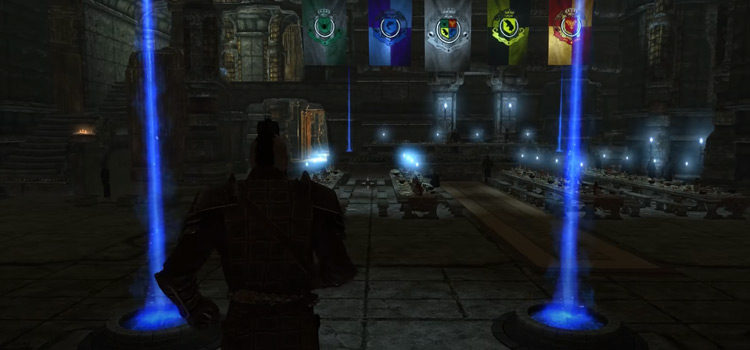 Hogwarts School interior modded - Skyrim dark screenshot