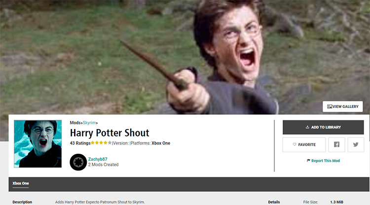 Harry Potter Shout Mod for Skyrim