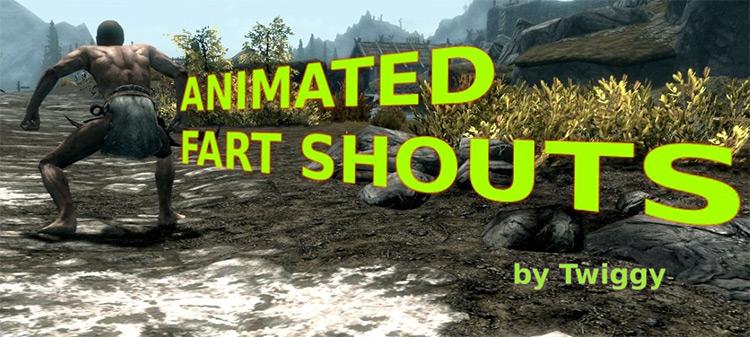 Animated Fart Shouting Skyrim mod