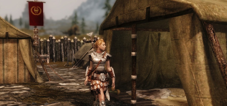 Imperials Camp modded screenshot of TES5: Skyrim