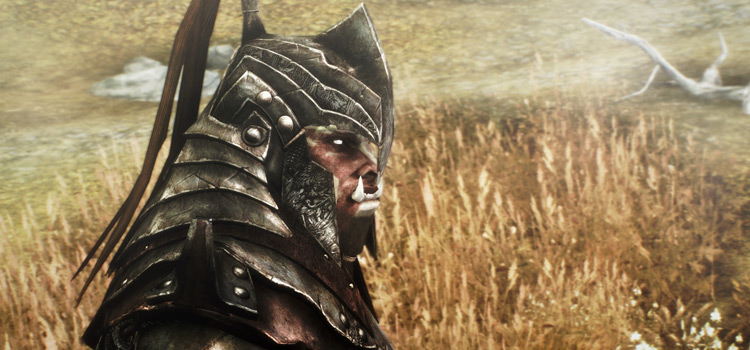 Amidianborn Orcish Armor - Orc character in Skyrim