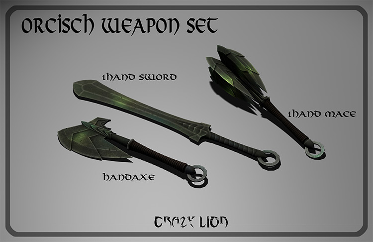 Orcish Weapon Pack Skyrim mod