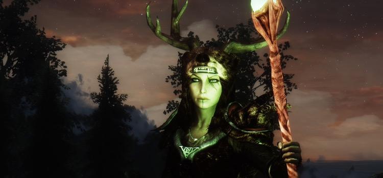 Skyrim druid female character in Skyrim