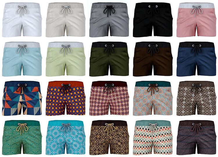 Swimwear Shorts Patterns - TS4 CC