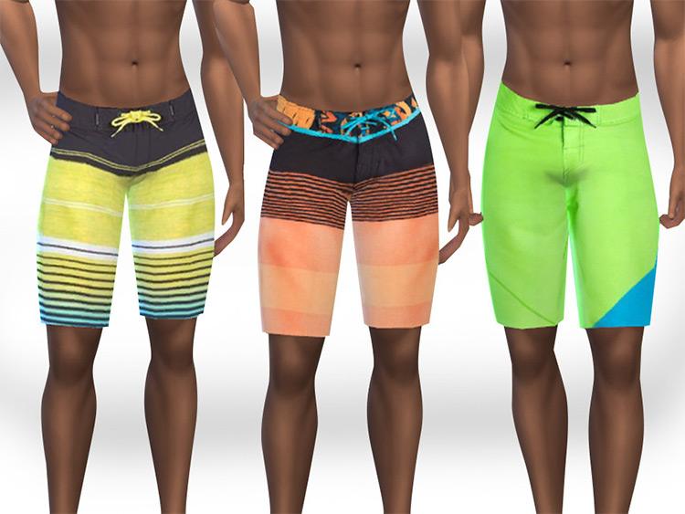 Swimming Fun Shorts - Sims 4 colorful swim trunks