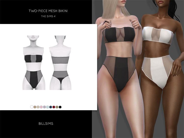 Two-piece Mesh Bikini CC