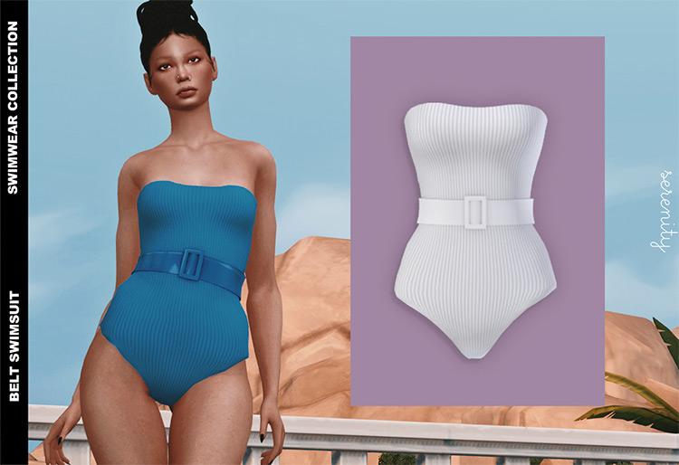 Belt Swimsuit TS4 CC