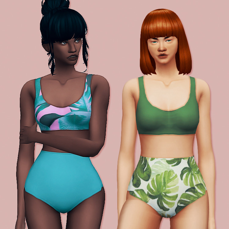 Coco Swimsuit print Sims 4 CC