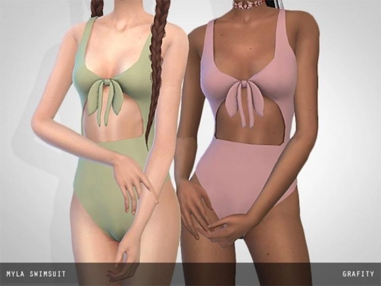 Myla Swimsuit in Sims 4