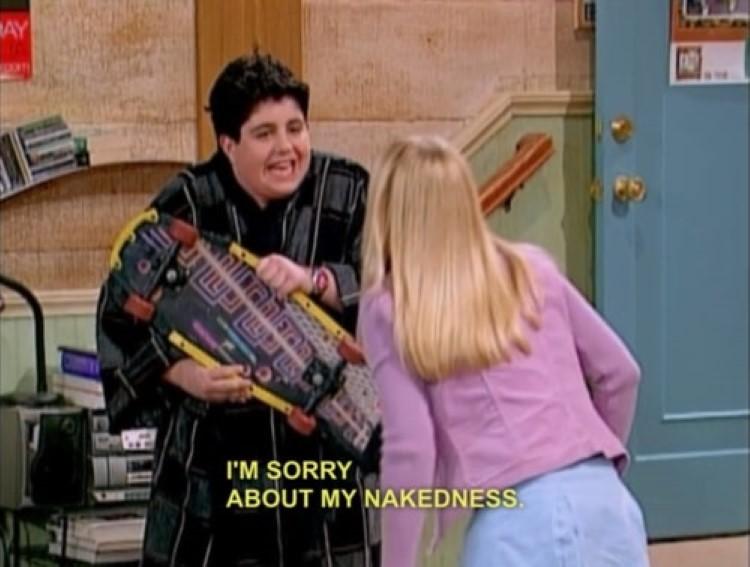 Josh meme - I'm sorry about my nakedness