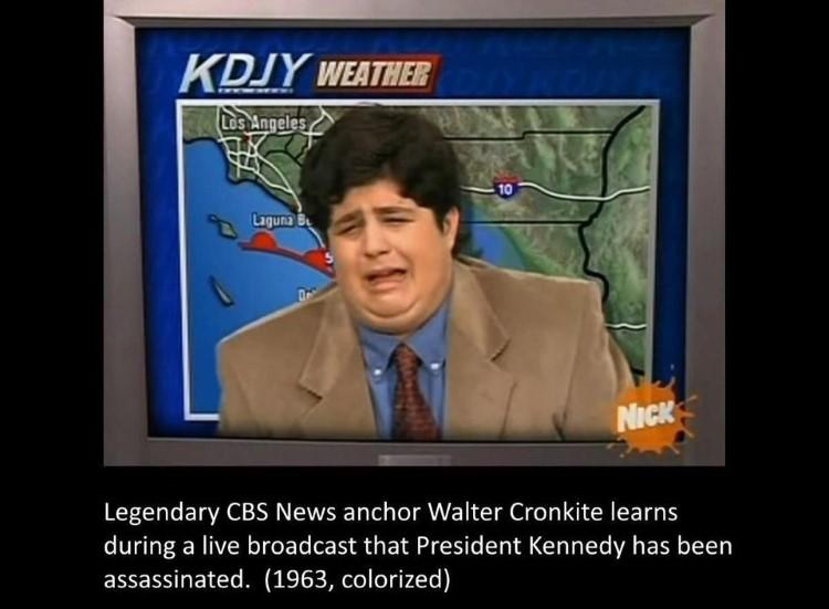 Josh crying weather report joke - Drake & Josh meme
