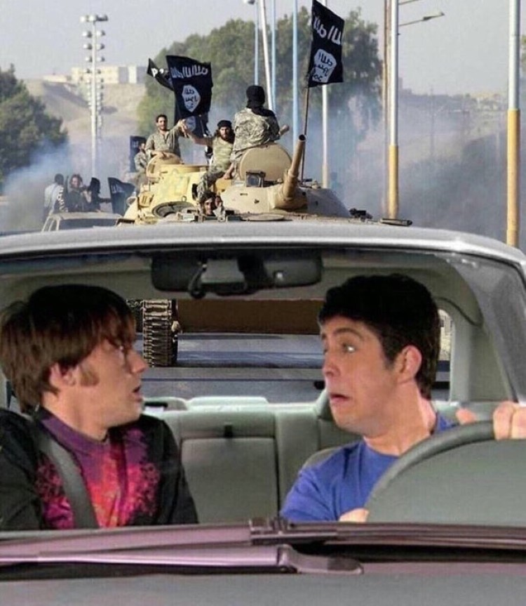 Drake & Josh driving through Afghanistan