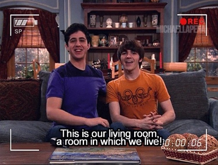 Drake & Josh meme: This is our living room, a room in which we live