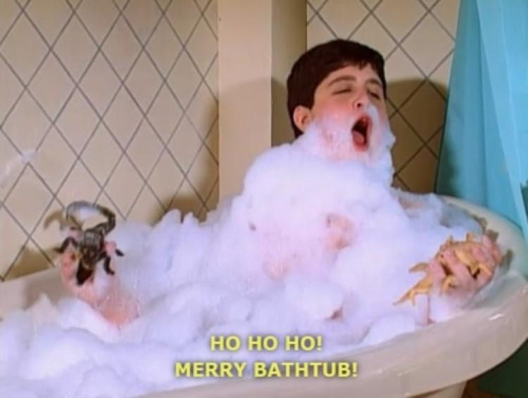 Josh meme: Ho ho ho! Merry bathtub!