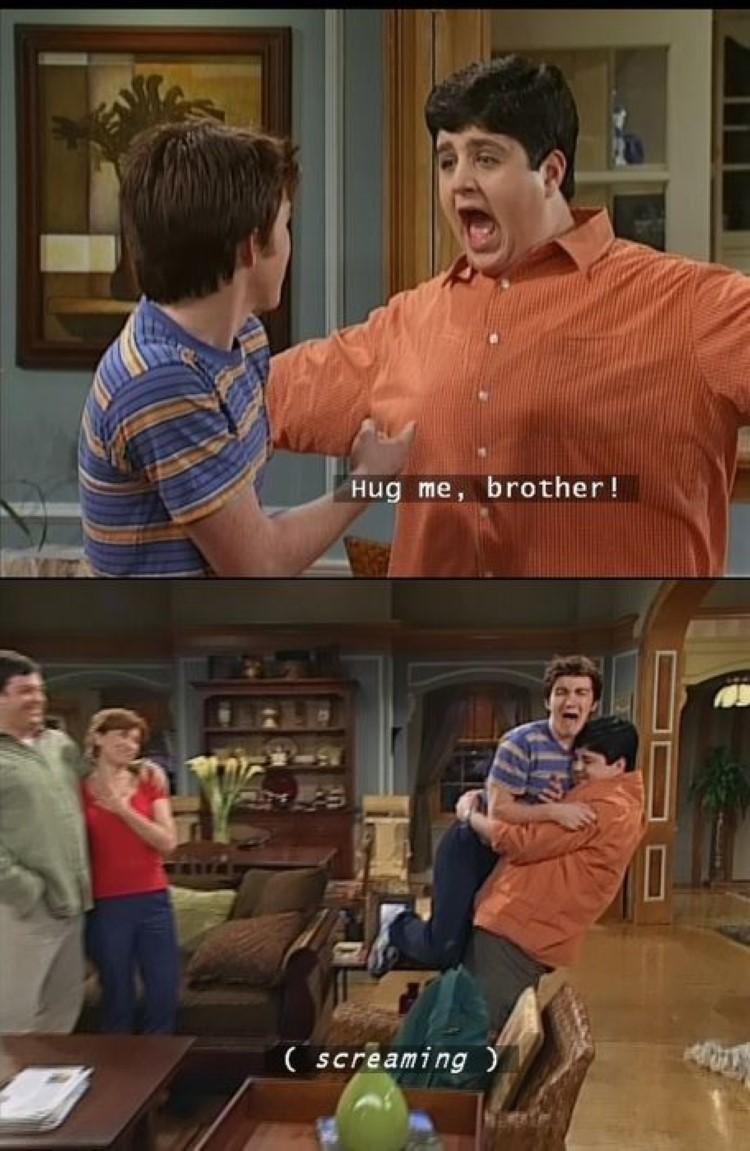 Hug me brotha meme