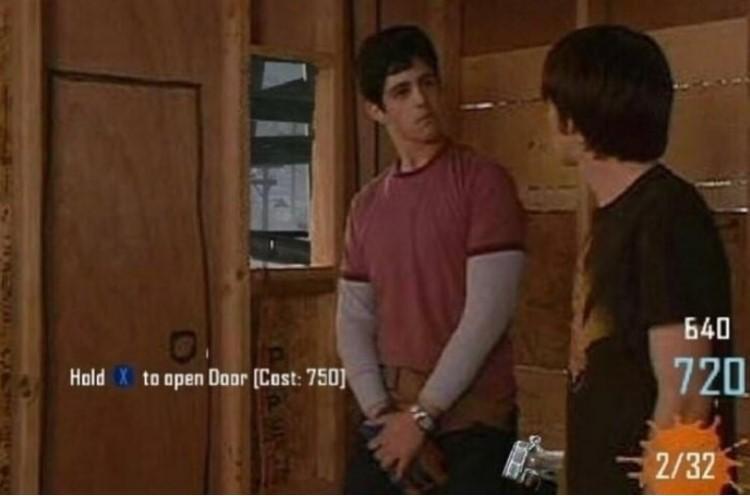 Hold X to open Door - Drake & Josh door hole meme