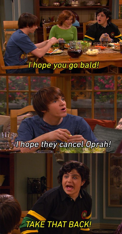 Drake: I hope they cancel Oprah! Josh: Take that back!