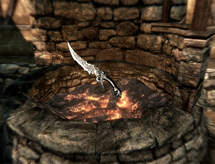 Curse of Sithis knife mod for Skyrim