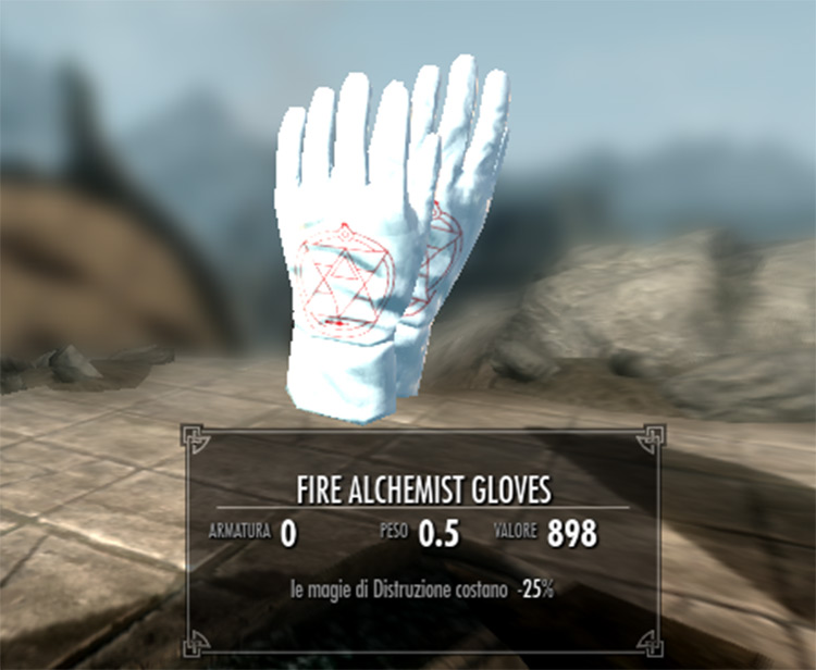 Fire Alchemist Gloves - FMA mod for Skyrim