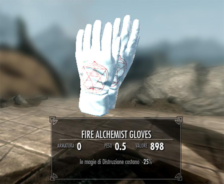 Fire Alchemist Gloves - FMA mod for Skyrim