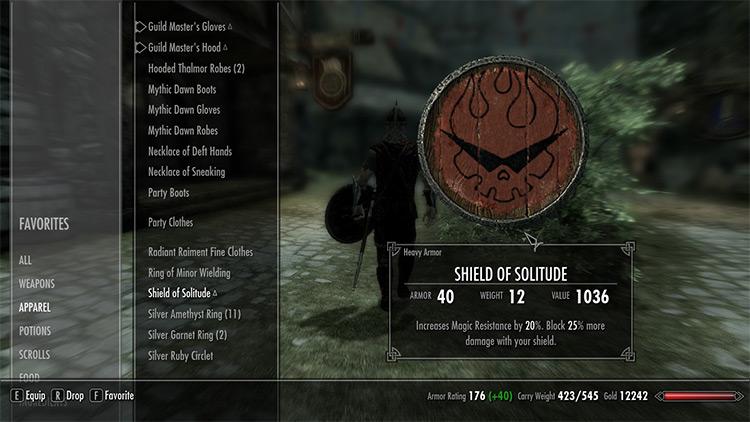 Gurren Lagann Solitude Shield mod