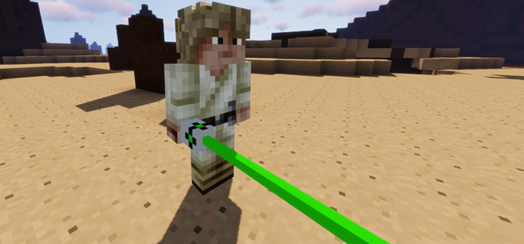 Luke Skywalker in Minecraft