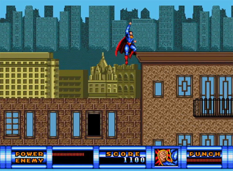 Superman (1992) gameplay