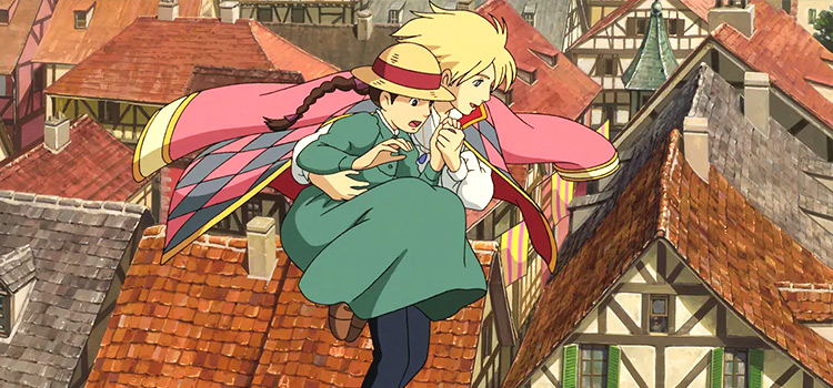 Howls Moving Castle flying screenshot