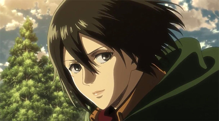 Mikasa from Attack on Titan anime