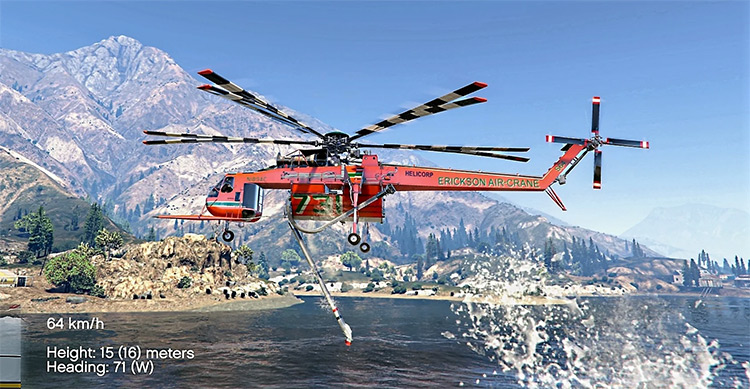 Sikorsky S-64E Fire Fighting Helicopter for GTA5