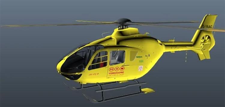 Yorkshire Air Ambulance GTA5 mod