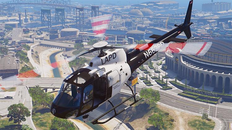 AS-350 Ecureuil LAPD GTA5 mod