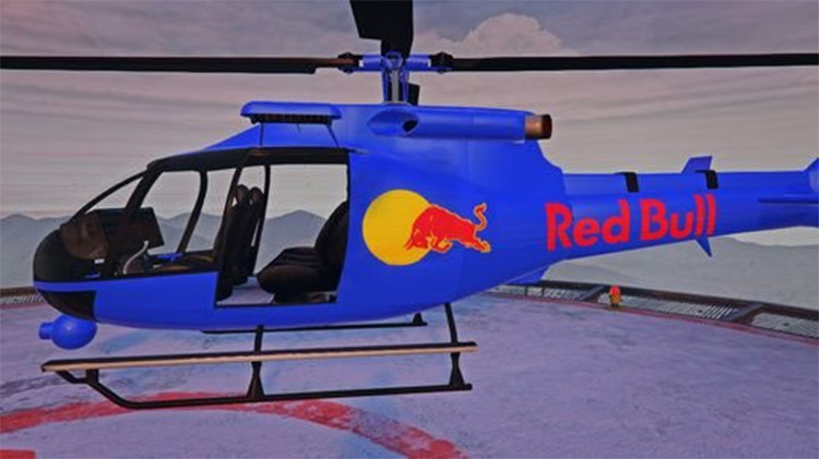 Red Bull Helicopter GTA5 mod