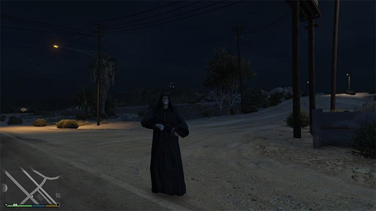 Darth Sidious mod for GTA5