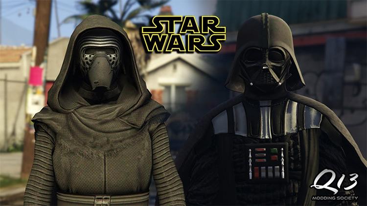 Kylo Ren & Darth Vader GTA mod