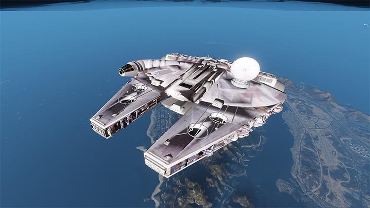Millennium Falcon modded into GTA5