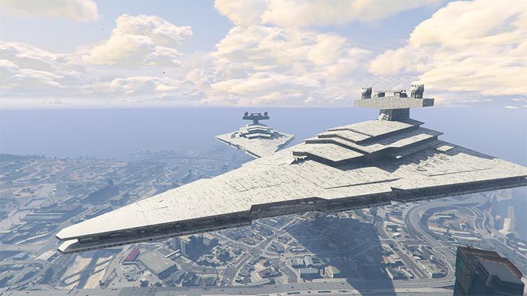 Star Destroyer modded into GTA5