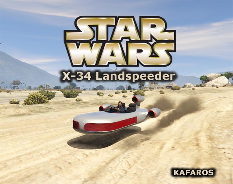 X-34 Landspeeder mod for GTA5