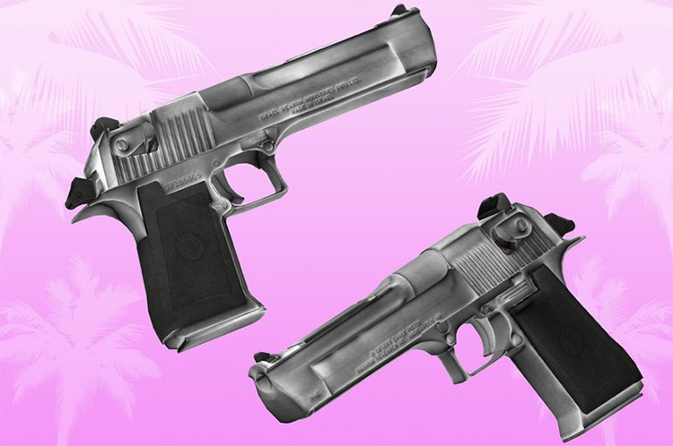 Desert Eagle weapon mod for Vice City