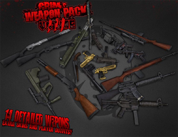 GRIMs Weapon Pack Volume3 for San Andreas