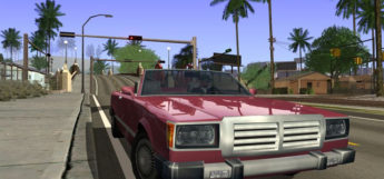 GTA San Andreas car close-up - Ultimate Graphics Mod Preview