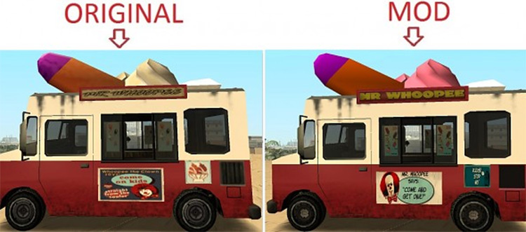 GTA San Andreas - Original Vehicles HQ Retextured