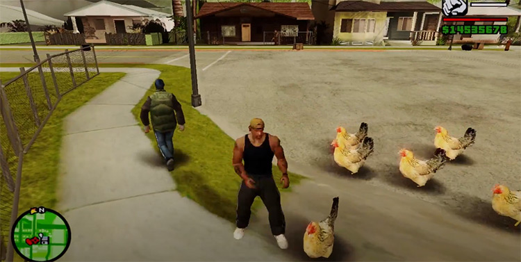 Chicken Gang mod in San Andreas