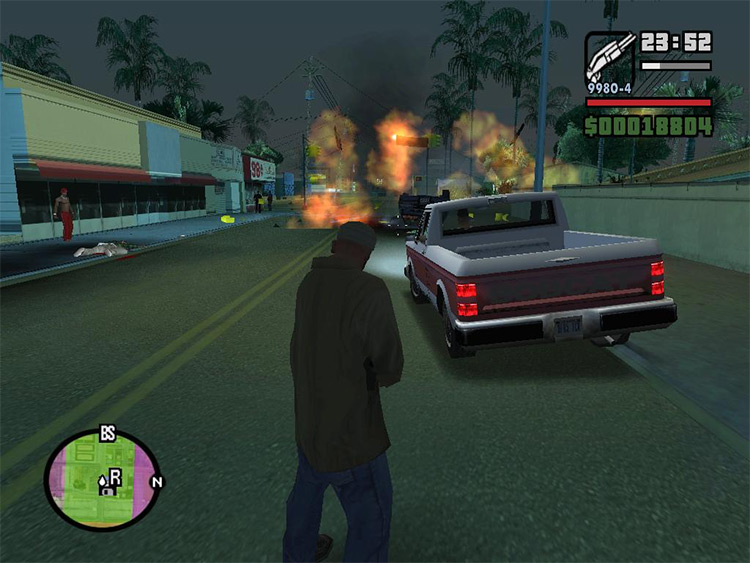 Explosive Bullets in GTA San Andreas