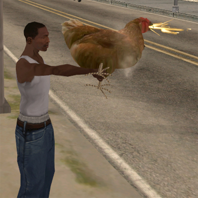 Chicken Gun mod for GTA San Andreas