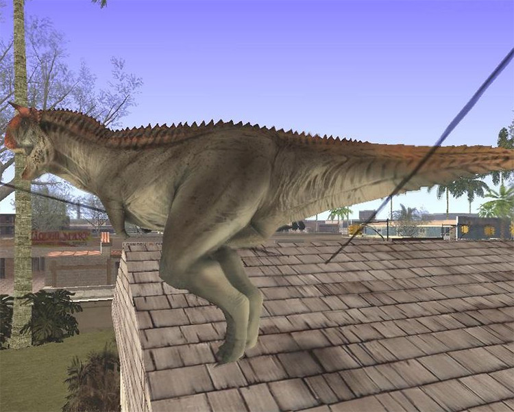Dinosaur Attack Mod for GTA:SA