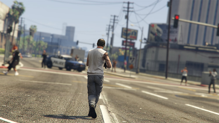 Pedestrian Riot mod for GTA5