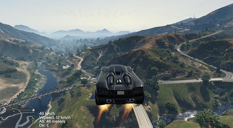Vehicles Jetpack mod for GTA5